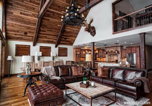 Desain interior rustic palembang