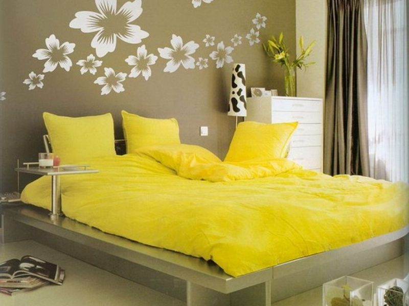 Yellow Decor Bedroom Yellow Wall Decor For Bedroom Flowers Bedroom Wall Decorations Designs