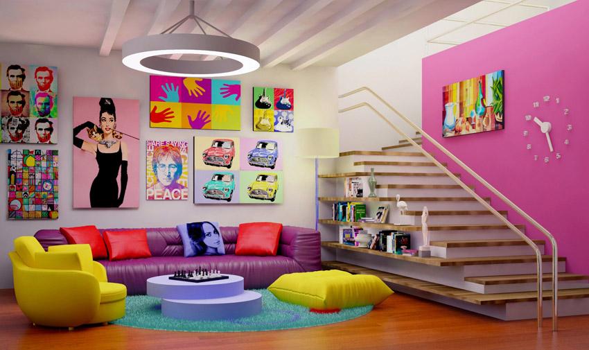 Desain interior pop art