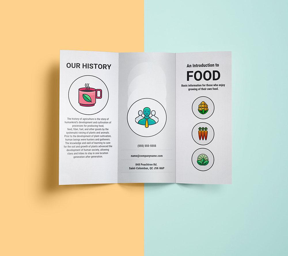 brosur untuk promosi
