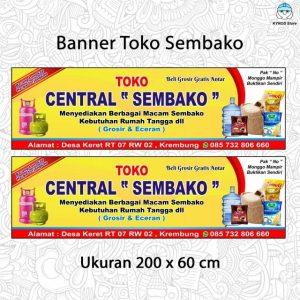 Contoh Banner Sembako